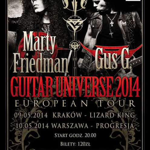 Marty Friedman & Gus G Guitar Universe European Tour 2014