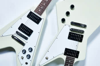 Gibson 70s Flying V i Explorer Classic White