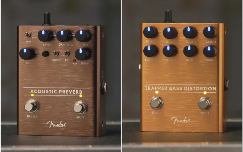 Nowe efekty Fender Acoustic Preverb i Trapper Bass Distortion