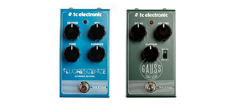 TC ELECTRONIC - Fluorescence Shimmer Reverb, Gauss Tape Echo