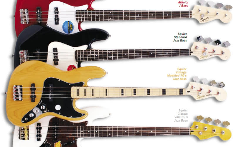 Affinity J Bass, Standard Jazz Bass, Vintage Modified 70's Jazz Bass, Classic Vibe 60's Jazz Bass