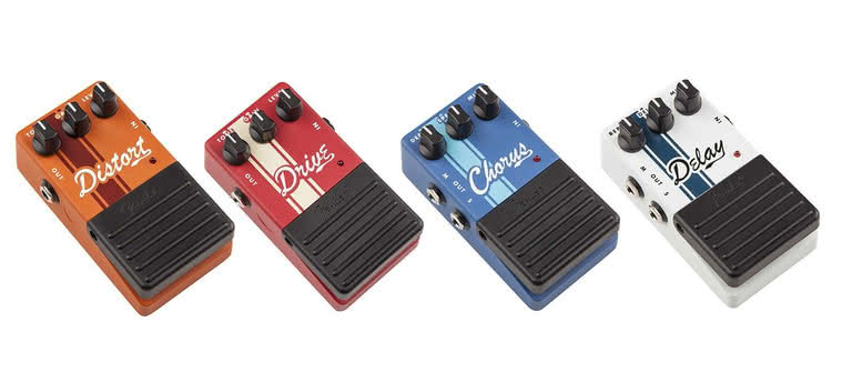 FENDER - Drive, Distortion, Chorus, Delay