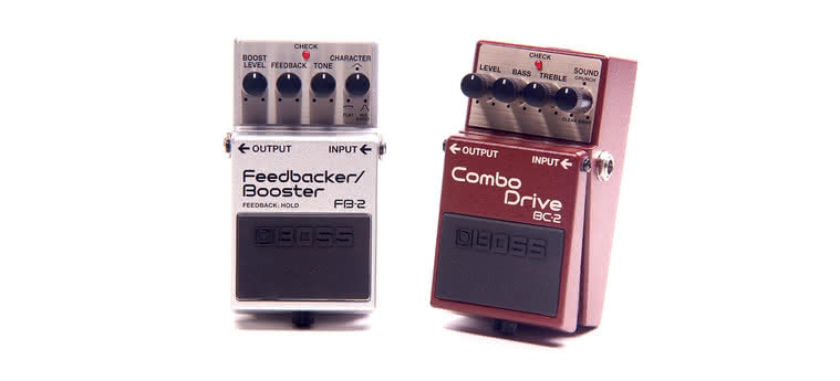 BOSS - FB-2 Feedbacker/Booster,  BC-2 Combo Drive