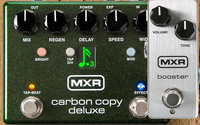 MXR Carbon Copy Deluxe i MXR Booster Mini