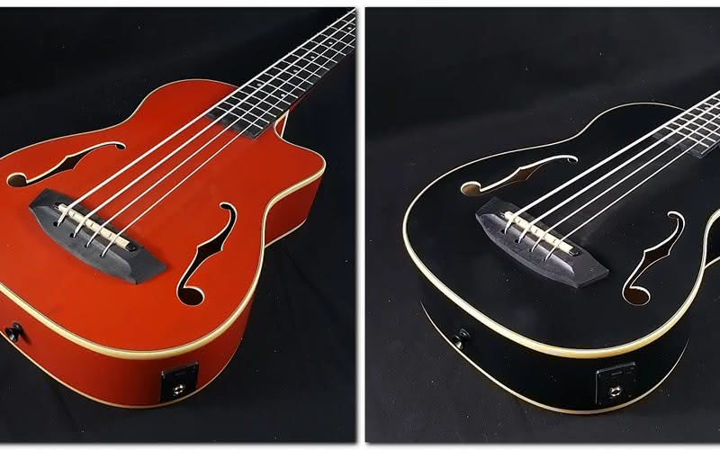 Kala U-Bass Journeyman Matte Red oraz Matte Black